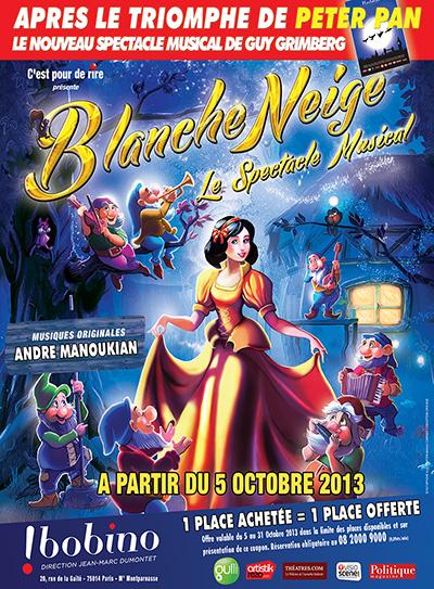 Blanche-Neige, le spectacle musicale. Entretien avec Prisca Demarez