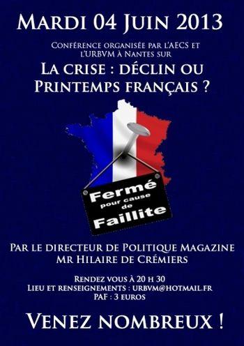 Conférence à Nantes 4 juin 2013