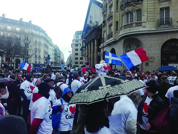 Calais à Paris dans la rue