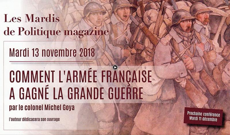 Vidéo. Comment l'armée française a gagné la Grande Guerre par le colonel Michel Goya