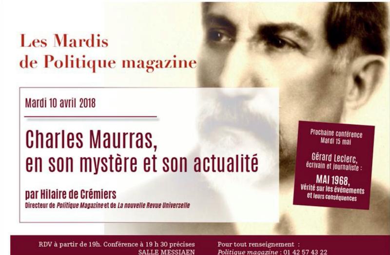Hilaire de Crémiers : Charles Maurras, son mystère et son actualité