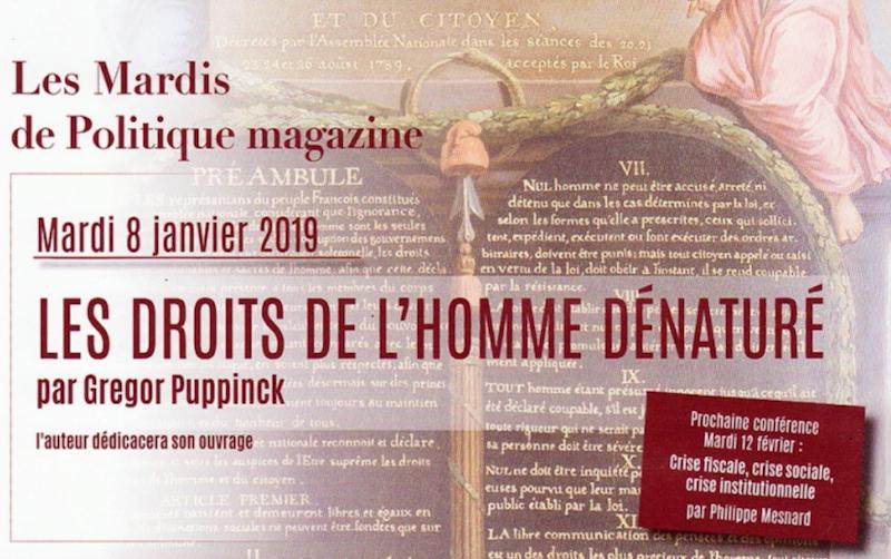 Gregor Puppinck : Les droits de l'homme dénaturé.