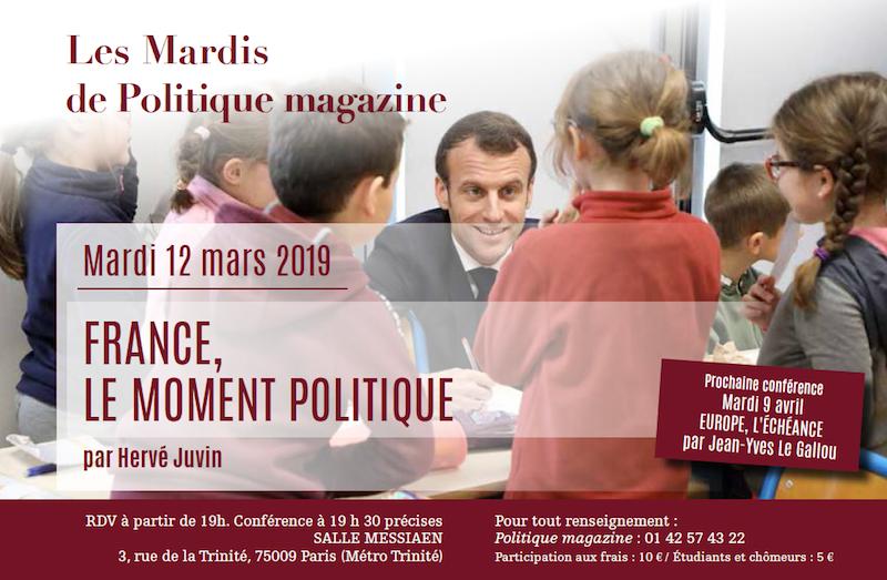 Hervé Juvin. France, le moment politique