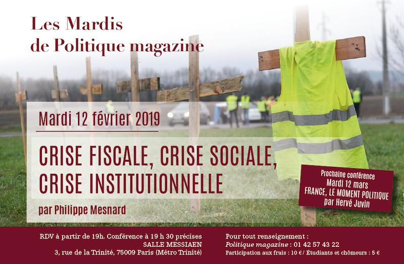 Philippe Mesnard : Crise fiscale, crise sociale, crise institutionnelle