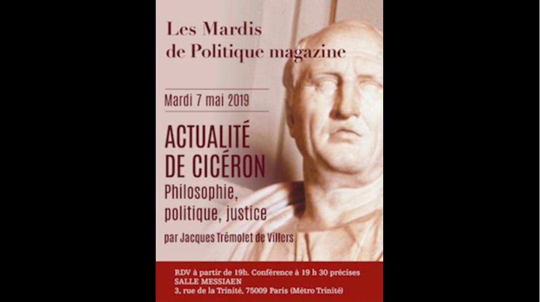 Jacques Trémollet de Villers : actualité de Cicéron