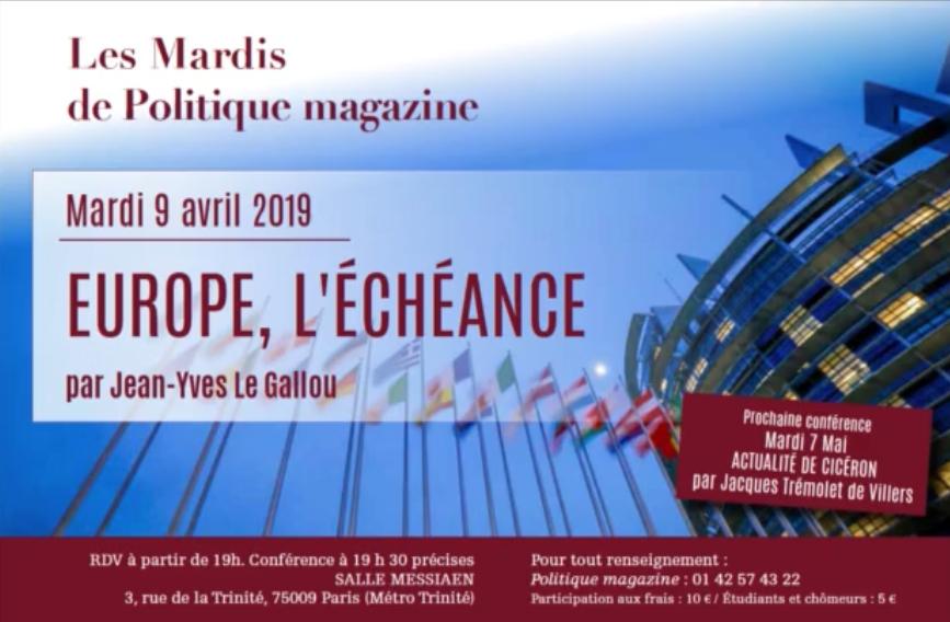 Jean-Yves Le Gallou : Europe, l'échéance