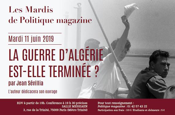 Mardis de Politique magazine, Jean Sévillia 11/06/2019