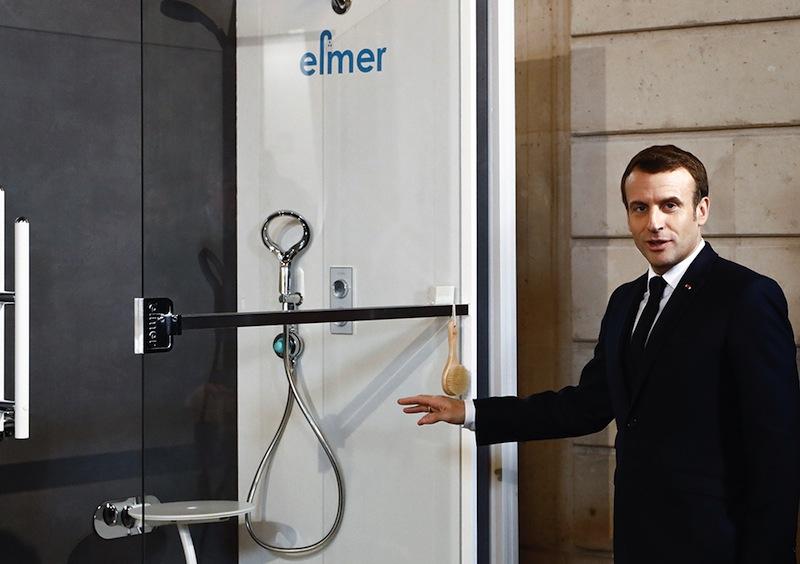Macron et les douches