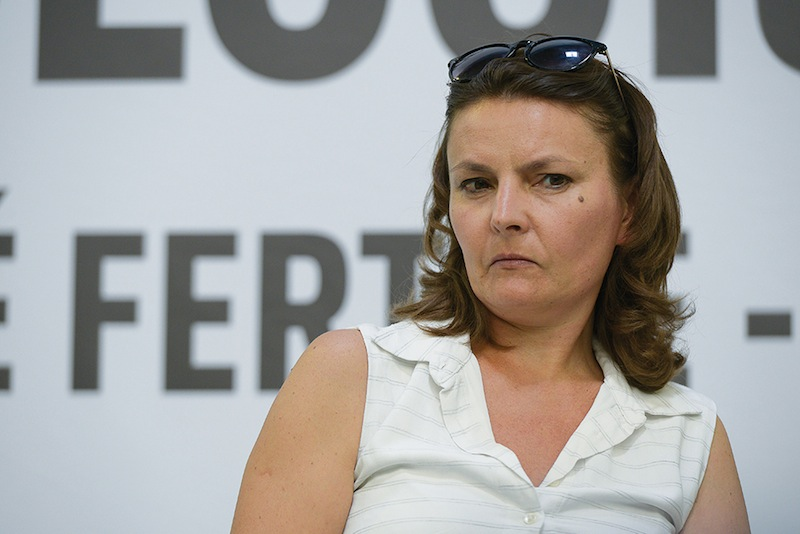 Eva Sas, porte-parole d'EELV. Réunion plénière pour sortir de la crise économique et sociale lors de la troisième journée des Journées d'Été d'EELV. C'est pas gagné…