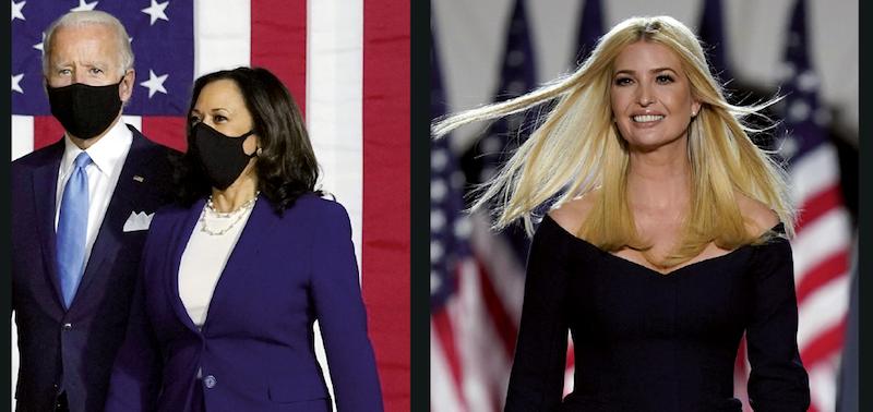 Joe Biden et Donald Trump cherchent à séduire leurs électorats en mettant en avant des figures féminines, Kamala Harris et Ivanka Trump.