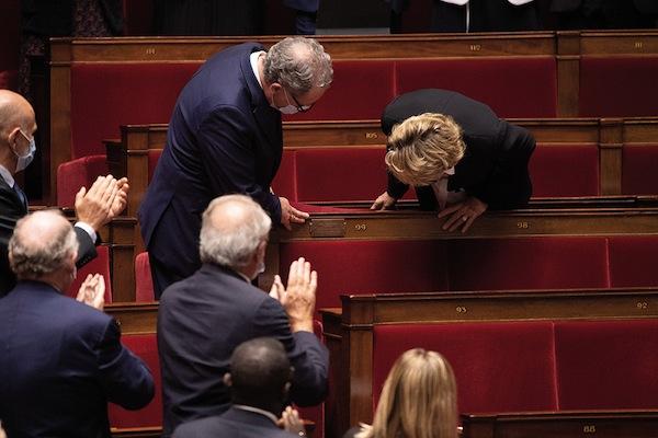 C'est là que s'asseyait Jacques Chirac