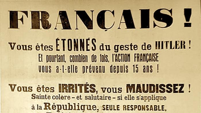 Les Droites françaisesface au national-socialisme